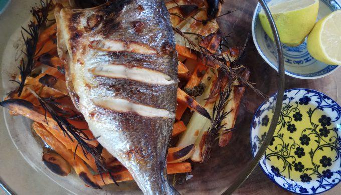 דג וירקות שורש