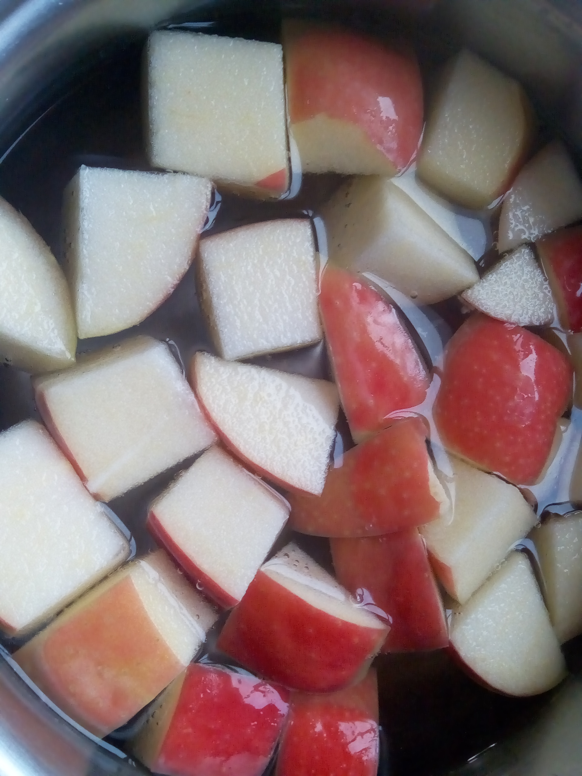 בישול תפוחים לקוזו